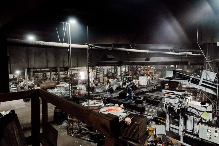 Ermak Foundry shop floor a wide angle view