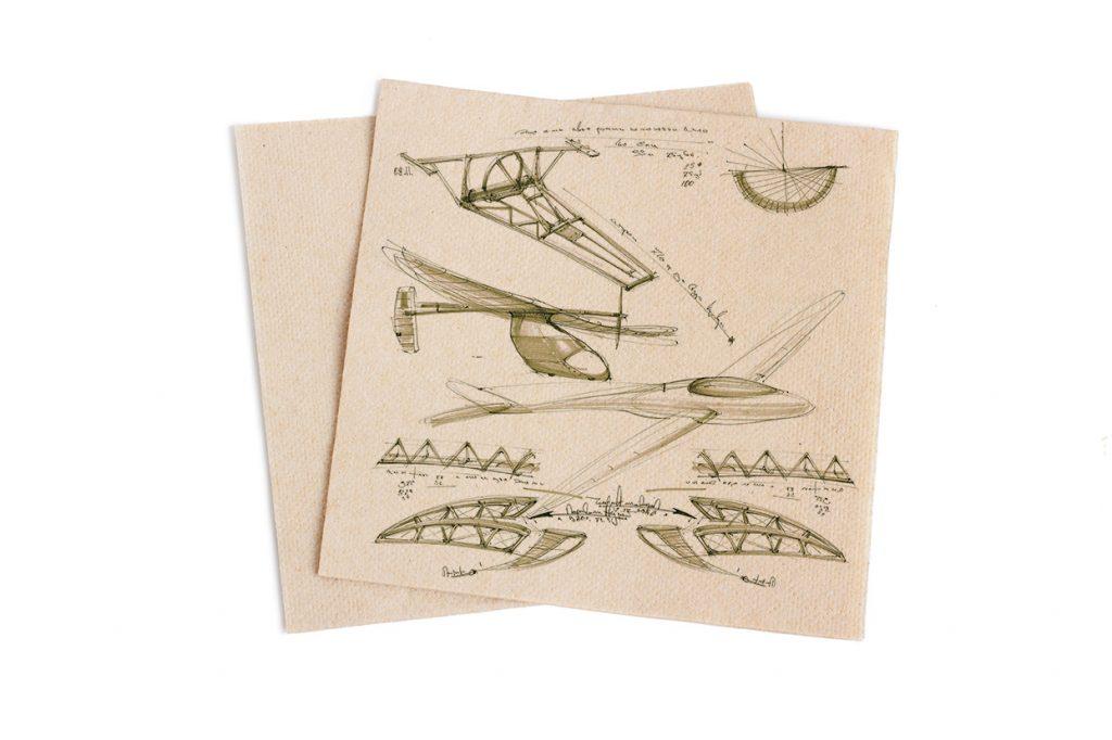 Invention ideas on a napkin